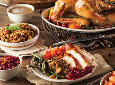 Charelston Wedding turkey dinner