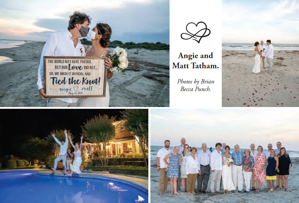 Angie and Matt Tatham couple and wedding photos.